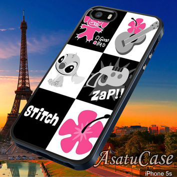 Lillo and Stitch Puzzle - Samsung Galaxy S2/S3/S4,iPhone 4/4S,iPhone 5/5S,iPhone 5C,Rubber Case,Cell Phone,Case,Accessories - 211013/CA3