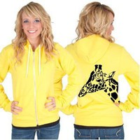 Giraffe American Apparel Hoodie