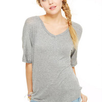 Solid Oversized Tee -