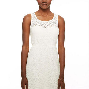 Cutout Back Lace Dress - Ivory