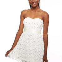 Soutache Sequin Floral Dress -