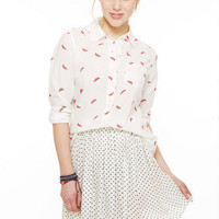 Pin Dot Challis Skater Skirt