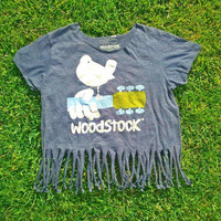 Woodstock fringe crop top by WestCoastCuties on Etsy