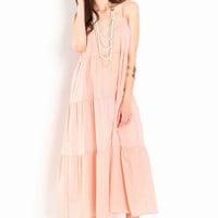 TIERED CAMI MAXI DRESS