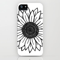Sunflower iPhone & iPod Case by Brenna Whitton