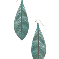 Textured Metal Feather Earrings | Wet Seal