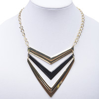 Tiered Chevron Pendants Necklace | Wet Seal