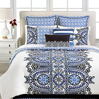 Martha Stewart Collection Gazebo Flowers 6 Piece Queen Comforter Set