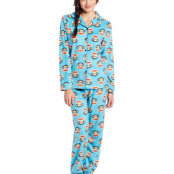 Paul Frank Junior's Winter Sparkle Julius Head PRT Notch Collar Pajama Set