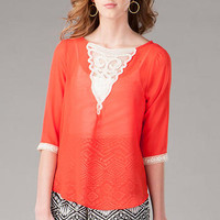CLEARMONT CROCHET BLOUSE