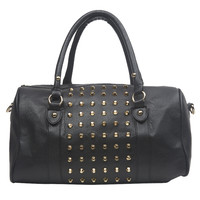 Studded Center Rounded Shoulder Bag | Wet Seal