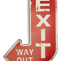 Creative Co-Op 'Exit' Wall Sign