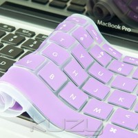 "Kuzy - Light Purple Keyboard Cover Silicone Skin for MacBook Pro 13"" 15"" 17"" (with or w/out Retina Display) iMac and MacBook Air 13"" - Light Purple"