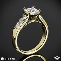 18k Yellow Gold Ritani Classic Channel-Set Princess Diamond Engagement Ring