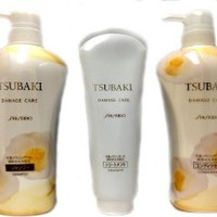 Shiseido TSUBAKI Damage Care SET (Shampoo, Conditioner, Treatment 200g)
