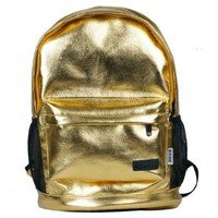Fashion Gold School Travel Gym Shoulder Bag Backpack