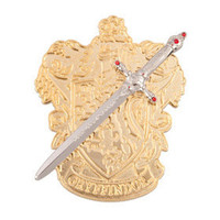 Sword of Gryffindor with House Crest Pin | Universal Studios Merchandise