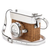 Wicker Camera Shoulder Bag
