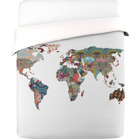 I liked this design on #Fab. Worldly Duvet Cover Queen