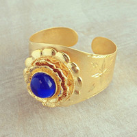 Ancient Babylon Cuff - Handmade in Morocco, 22K Gold Plated