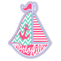 Marley Lilly Sailboat Promotional Sticker | Marley Lilly