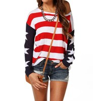 Red/White/Blue American Flat Sweater