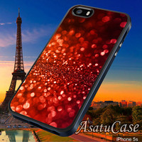 Red Glitter - Samsung Galaxy S2/S3/S4,iPhone 4/4S,iPhone 5/5S,iPhone 5C,Rubber Case,Cell Phone,Case,Accessories - 251013/CA16
