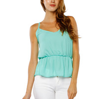 Papaya Clothing Online :: CHIFFON WAIST BAND TOP