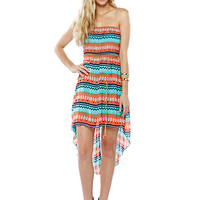 Papaya Clothing Online :: BOHEMIAN BELTED HIGH-LOW CHIFFON DRESS