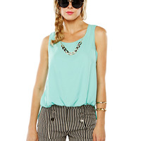 Papaya Clothing Online :: CHAIN NECKLACE CHIFFON TOP