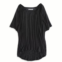 AE DRAPED COLD SHOULDER T-SHIRT