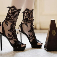 Lace Stilettos - Applique Footwear from Vincent Rey (GALLERY)