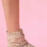 Alexander Spiked Sneaker - Nude in  Shoes at Nasty Gal