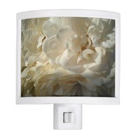 White Roses Painting Night Light
