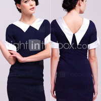 TS VINTAGE 1960s Contrast Collar Cute Dress - US$ 44.99