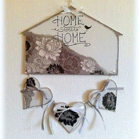 Front door decoration -Home sweet home- home decor in housewares