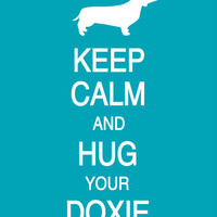Keep Calm and Hug Your Doxie by PostersPersonalized on Etsy