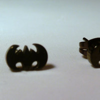 Batman Bat Earrings Studs Super Hero DC Comics Jewelry