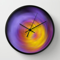Meditation - Abstract Energy Art By Sharon Cummings Wall Clock by Sharon Cummings