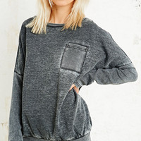 Sparkle & Fade Burnout Baseball Sweatshirt - Urban Outfitters