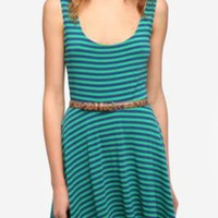 UrbanOutfitters.com > Sparkle & Fade Knit Stripe Circle Dress