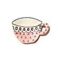 Teacup Dish ,Tea Plate, Spoon Rest, Ring Dish, Gift Ideas, Jewelry Dish