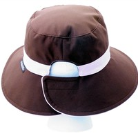 Pony Tail Bucket Hat Chocolate