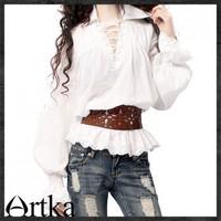 Nordic style pure white oversized V neck neutral Lace Shirt A09947 | ArtkaFashion - Clothing on ArtFire