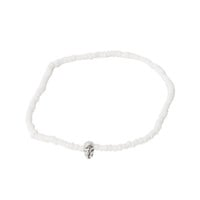 Stolen Girlfriends Club / Shell Stacker Bracelet - Baby Skull White