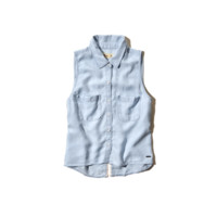 Brooks Beach Cropped Denim Shirt