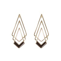 Black and Gold Layered Diamond Studs | Earrings Online | Lovisa