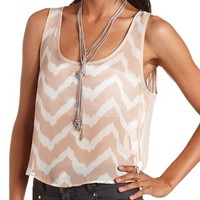OPEN-BACK CHEVRON CROP TANK