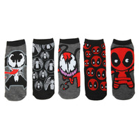 Marvel Kawaii No-Show Socks 5 Pair