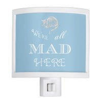 Cheshire Cat Mad Alice Blue Night Light